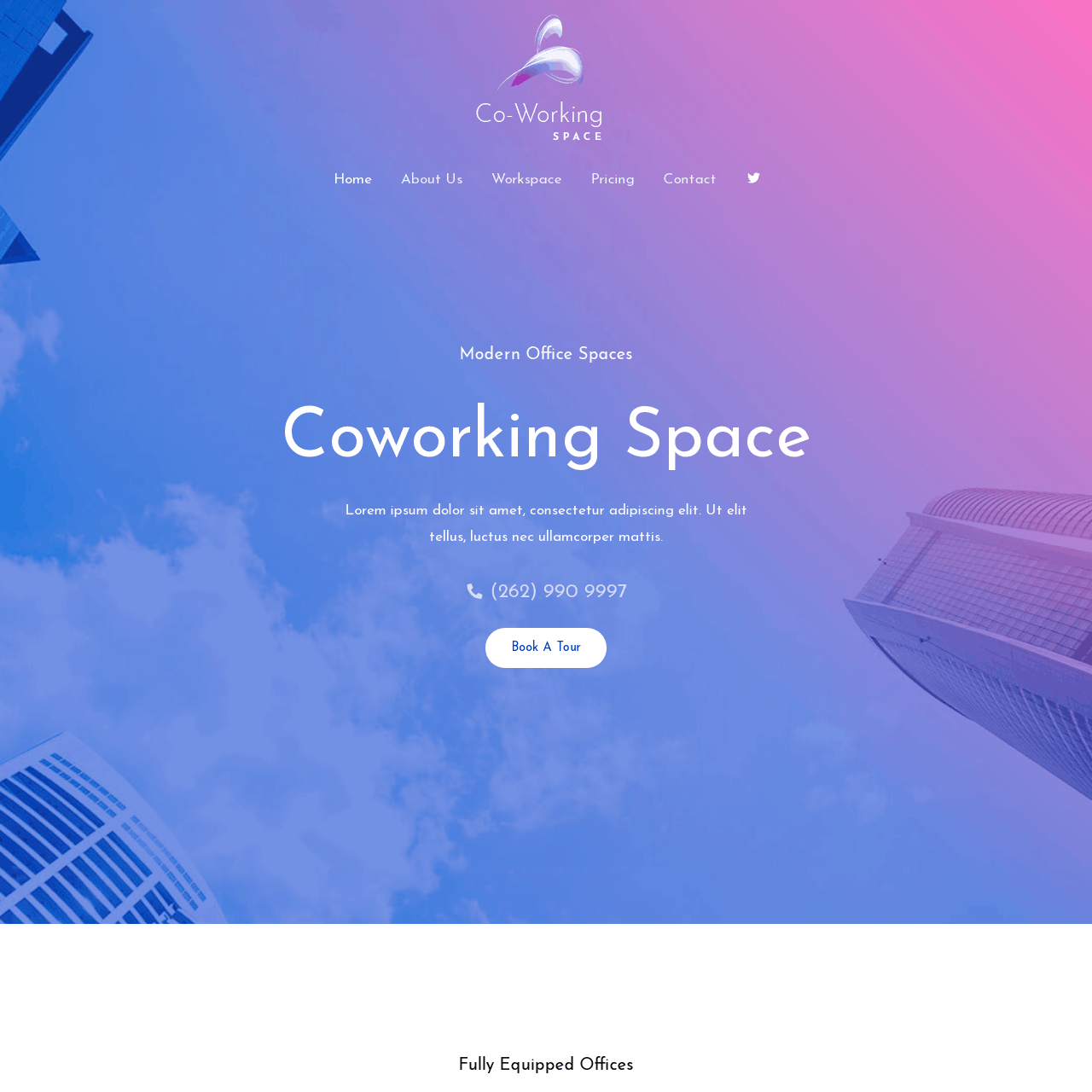 co-working-website-design
