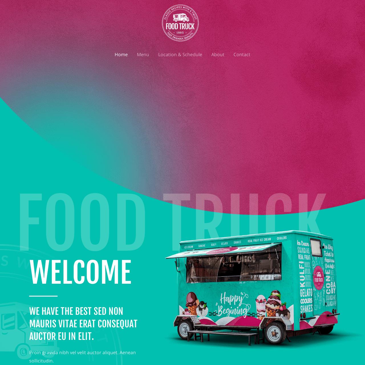food-truck-website-design
